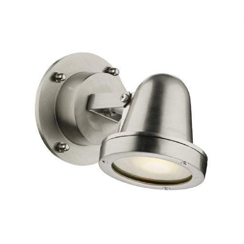Cove Spotlight Wall Nickel IP44 (Hand made, 7-10 day Delivery)
